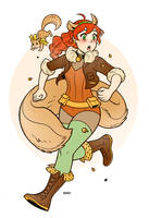 Squirrel Girl pinup by RenieDraws
