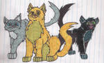 Lionpaw, Jaypaw, and Hollypaw