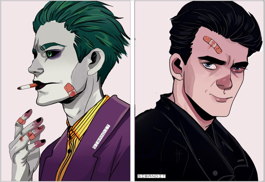 Joker and Bruce Wayne by sibandit