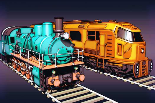 Trains of Baikonur
