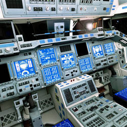 Space Shuttle Flight Deck by ChrisKuhn