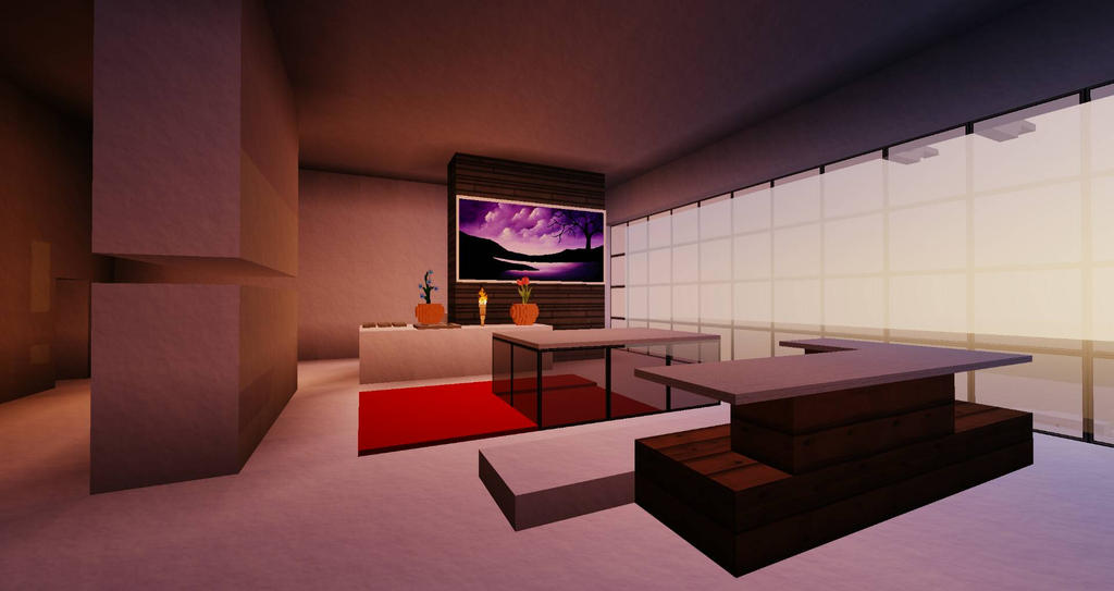 Modern Interior // Minecraft by touchportal on DeviantArt