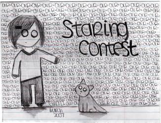 staring contest by mynameisgina