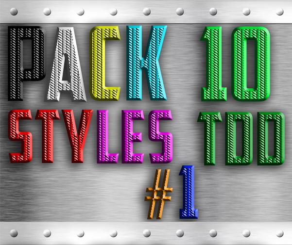 Pack 10 Styles TDD #1 by TheDamDamBW12