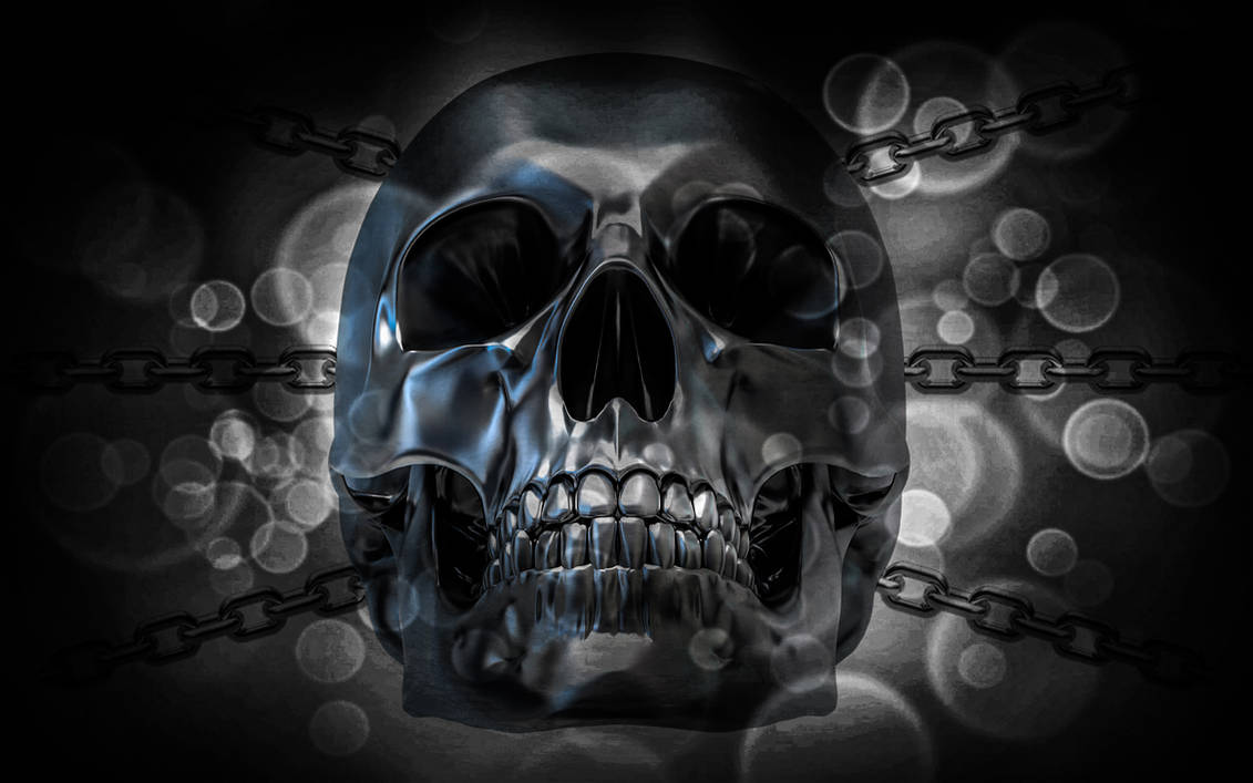 Wallpaper Metallic Skull by TheDamDamBW12