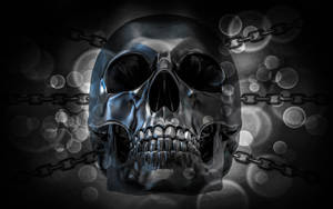 Wallpaper Metallic Skull by TheDamDamBW12