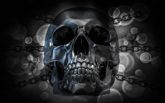 Wallpaper Metallic Skull