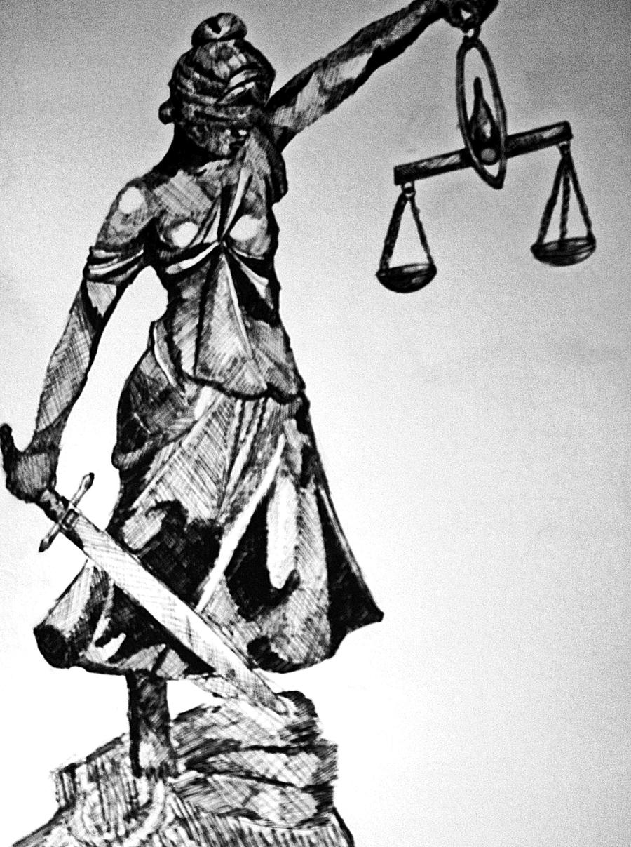 lady justice statue drawing - photo #47