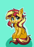 Shy Sunset Shimmer - MLP by ameliacostanza