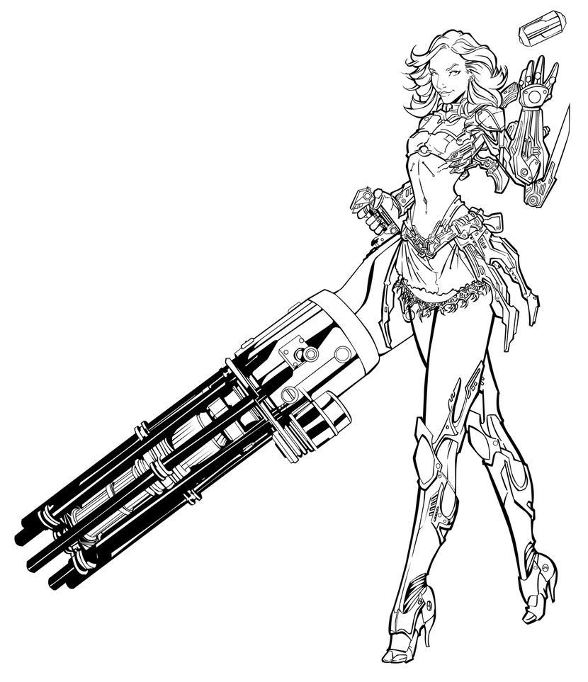 Gun Totting Super Hero by DangerG