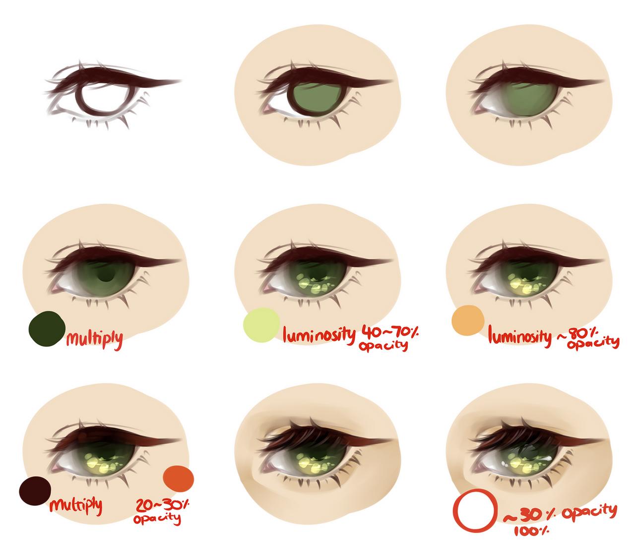 Coloring - Eyes on All-Tutorials - DeviantArt