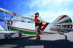 Pin Up Aviator Girl v.3