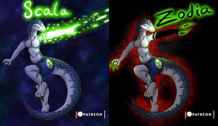 Starwarrior/Darkmatter OC - Scala/Zodia by StarWarriors