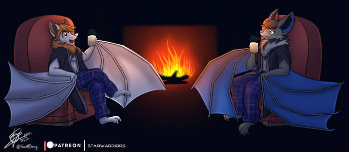 Patreon Commission - Bats hangin' out
