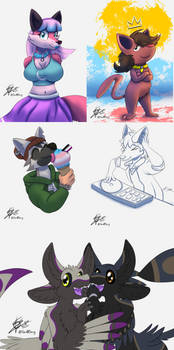 Cartoon Allies commissions 2021