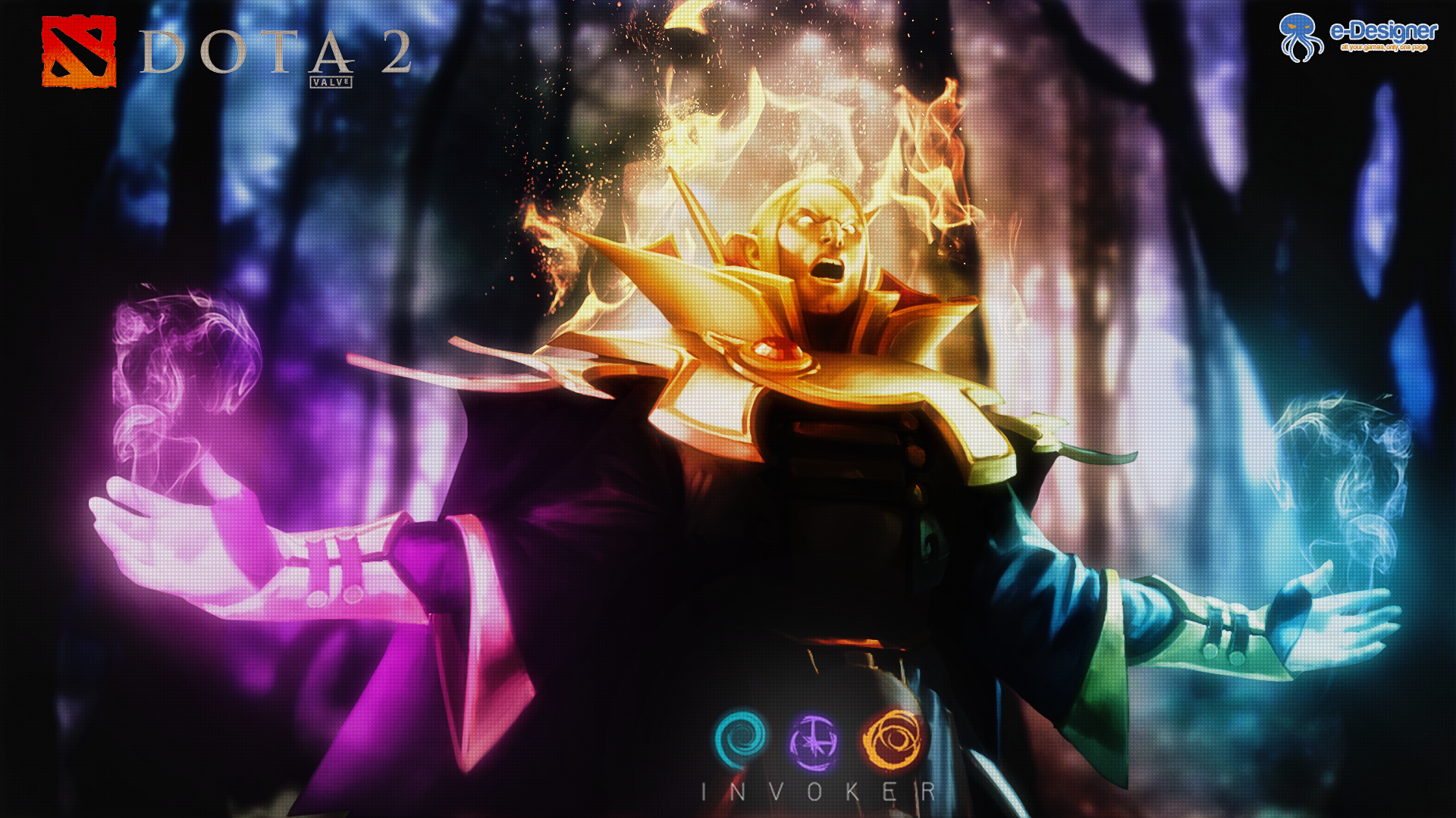 Invoker - Dota 2 - Wallpaper by regdsdesign on DeviantArt