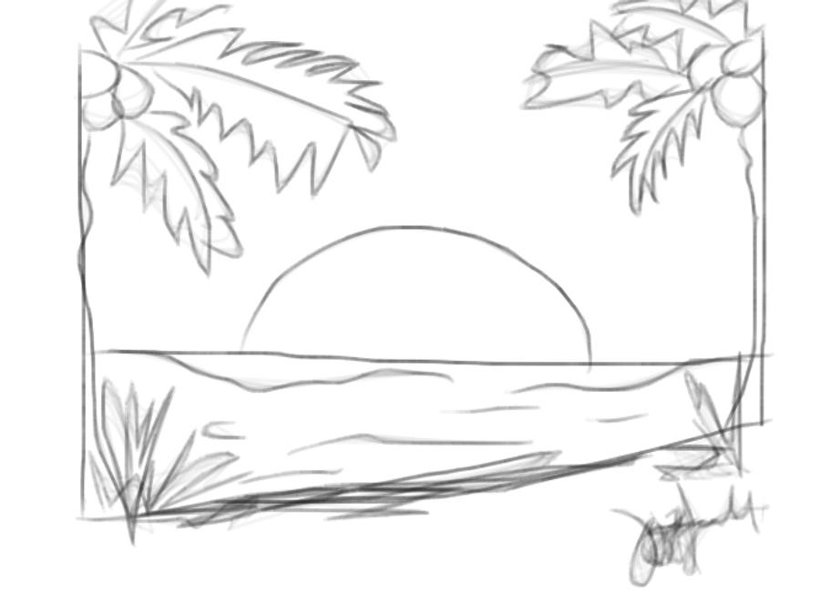 draft black and white sunset by zhaaaaiineee on deviantart
