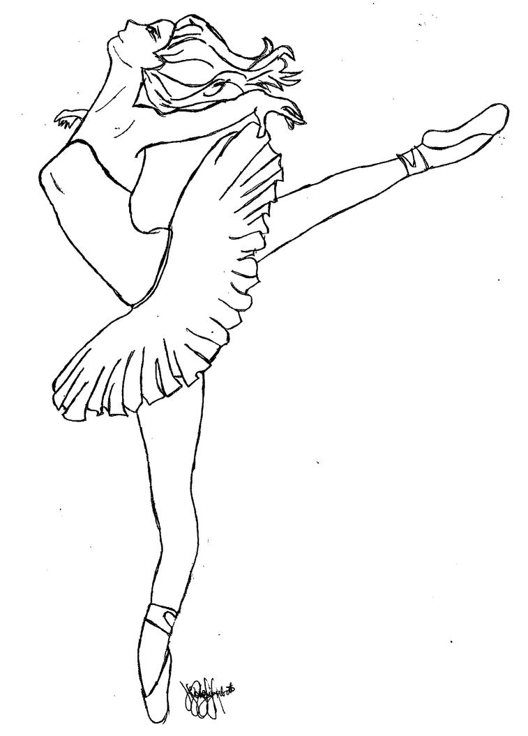 Ballerina by zhaaaaiineee on deviantart for Ballet coloring page