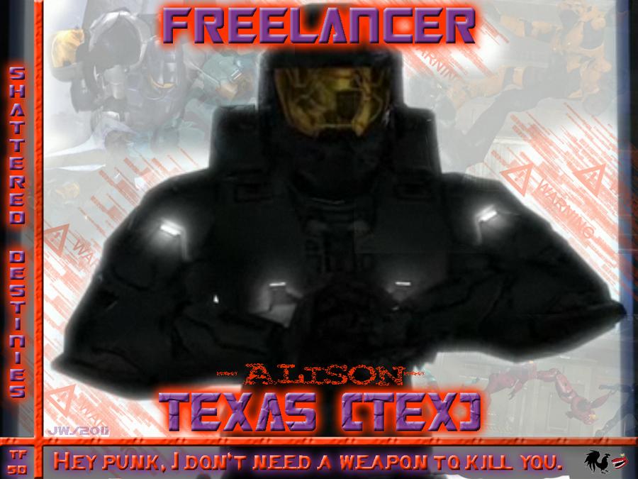 Red vs Blue Tex: TFSD fan BG by Jetta-Windstar