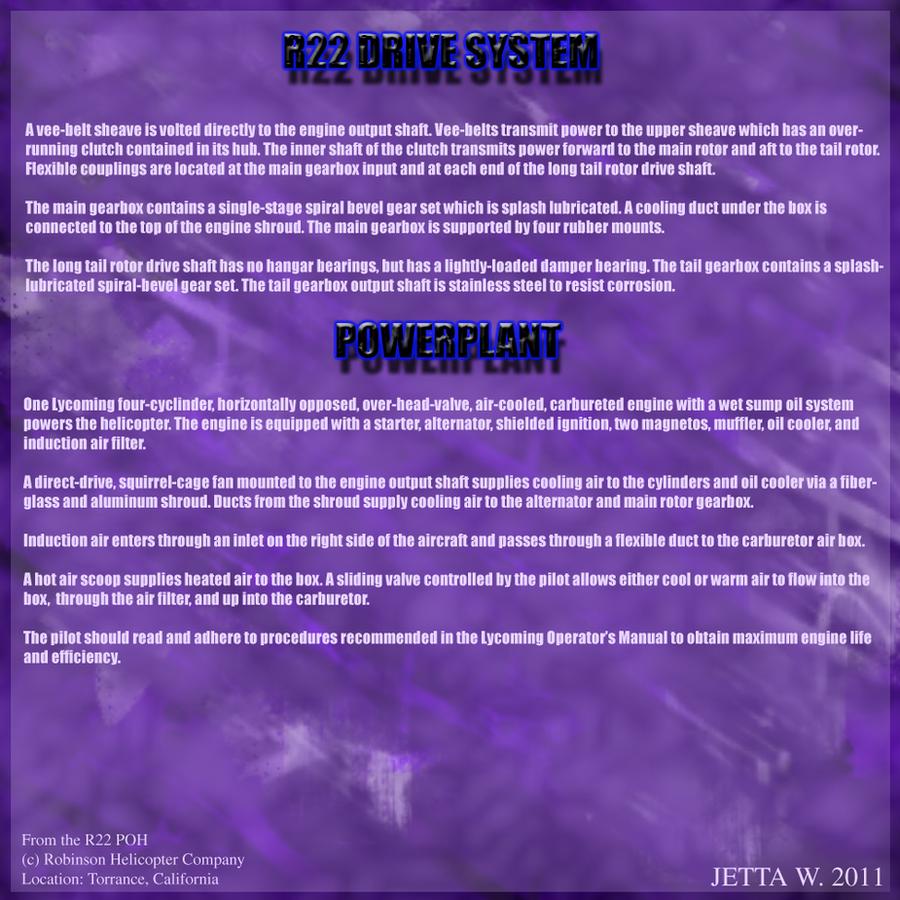 R22 Powerplant Info Sheet by Jetta-Windstar