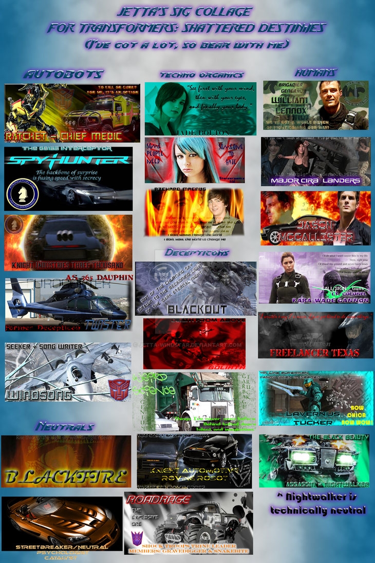 Sig Collage of Doom by Jetta-Windstar