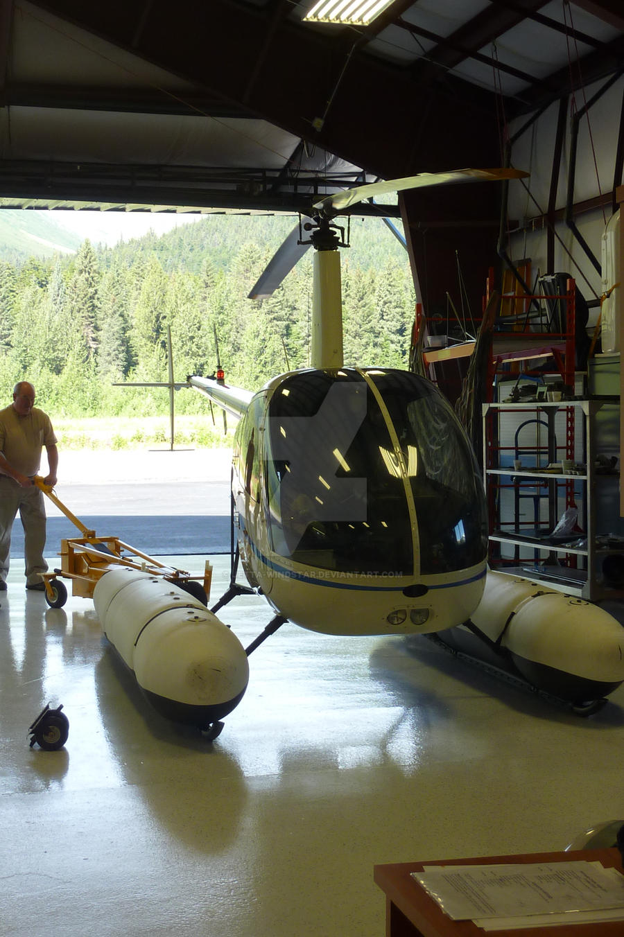 R22 with floats by Jetta-Windstar