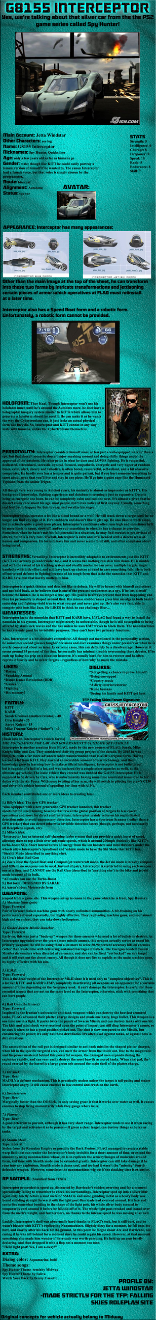Interceptor: Falling Skies Image Bio by Jetta-Windstar