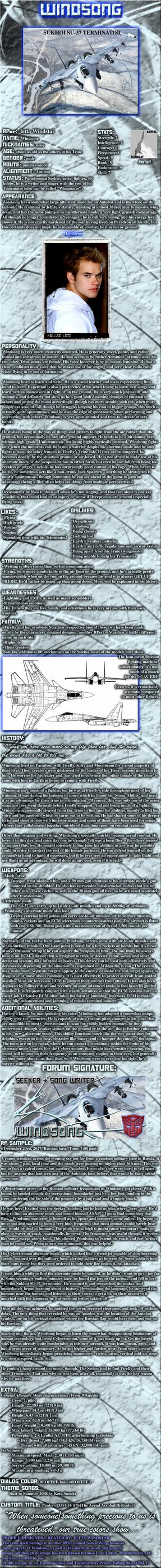 Seeker Windsong Image Profile by Jetta-Windstar