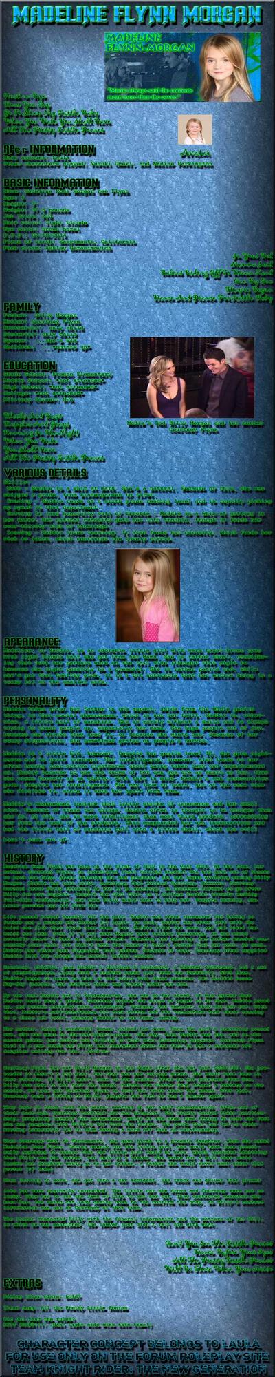 Madeline Morgan bio: TKR-The New Generation by Jetta-Windstar