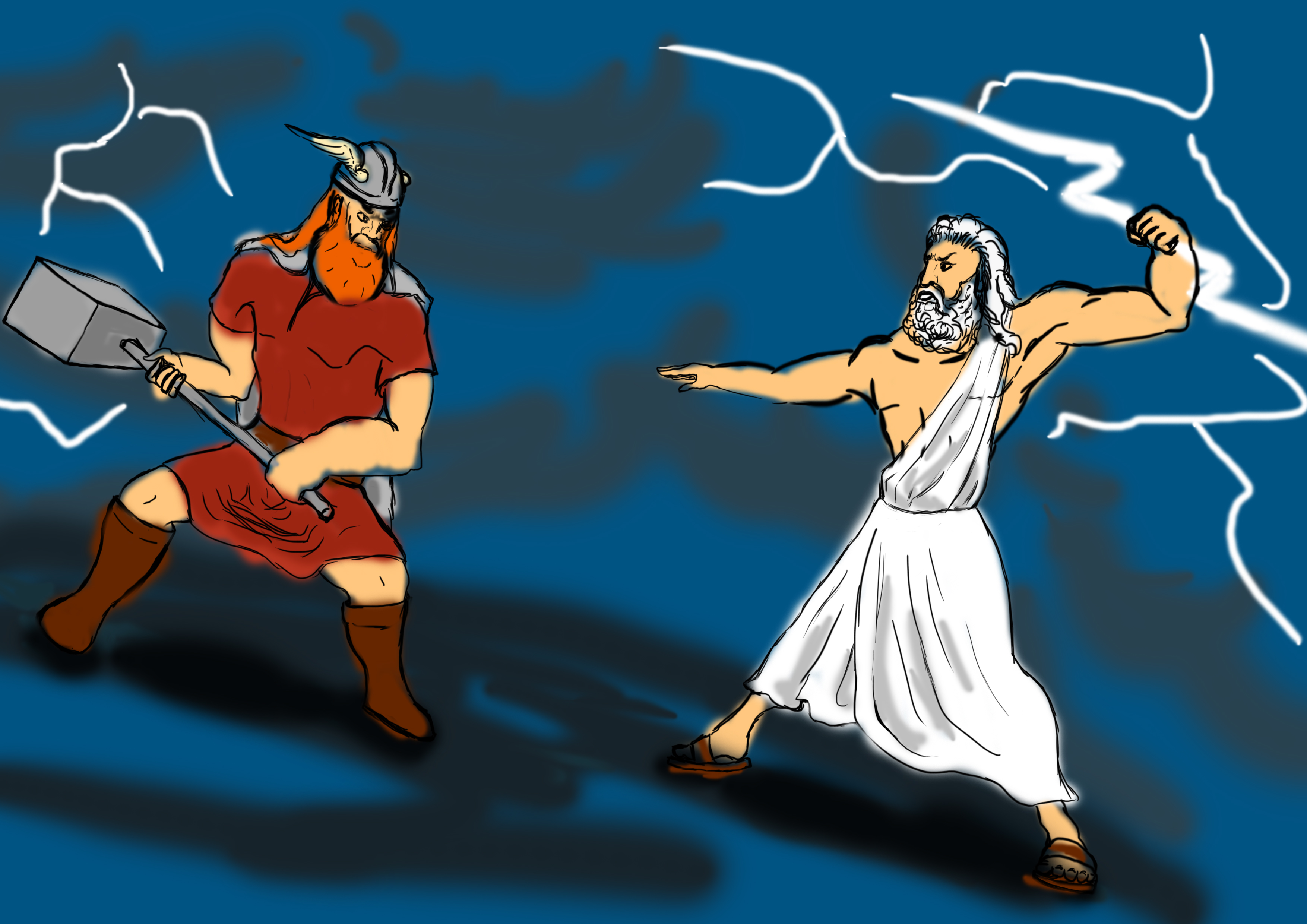 Zeus vs Thor by GodAntichrist on DeviantArt