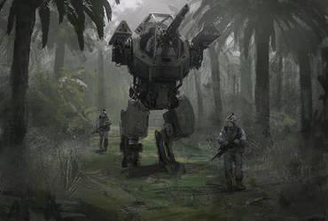 Patrolling the area