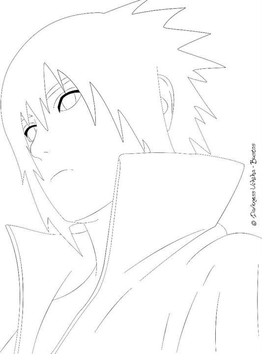 Sasuke Lineart : Uchiha sasuke lineart by iithedarkness ii on deviantart
