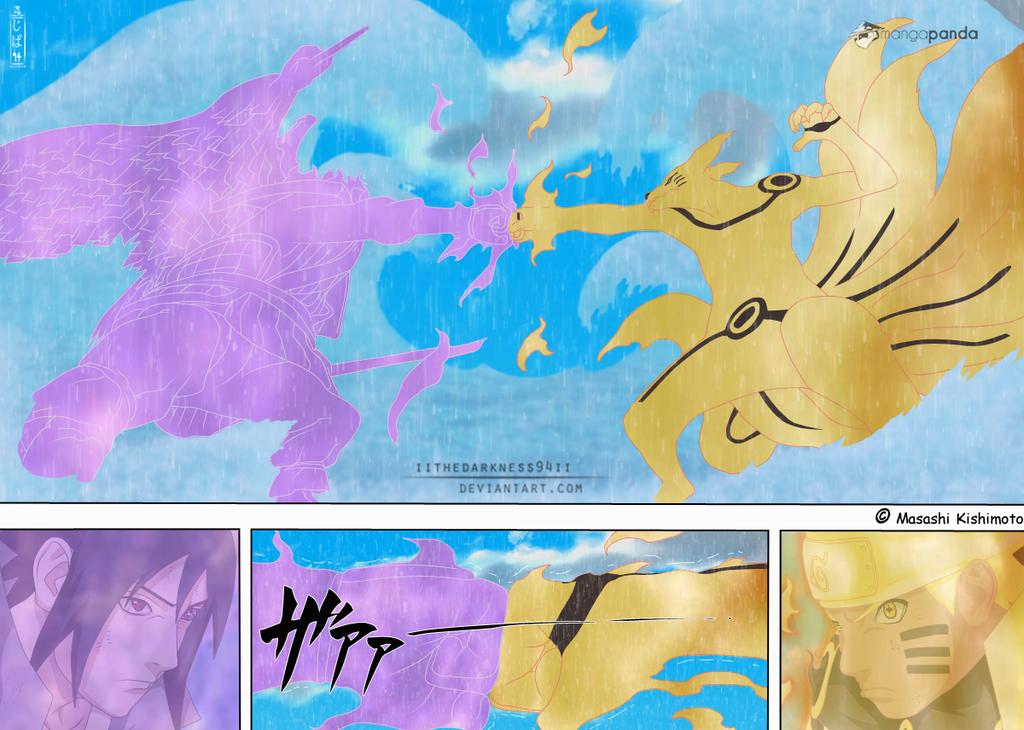 Naruto 695: Epic battle of Sasuke vs Naruto by IITheDarkness94II