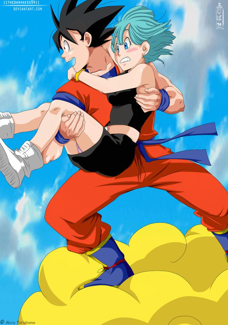 DBZ: Son Goku with Bulma by IITheDarkness94II