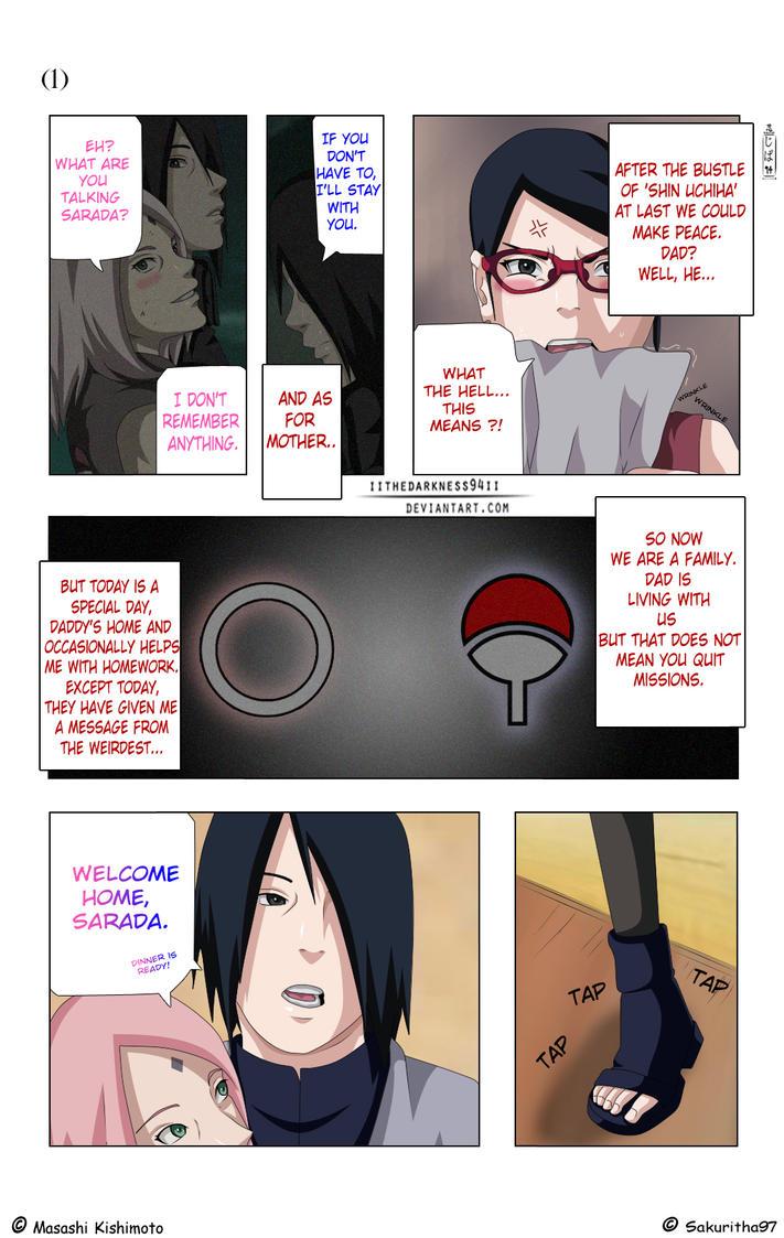 SasuSaku Doujinshi: Page 1 by IITheDarkness94II