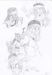 Naruto: Tayuya Sketch Dump. by thunderboltdrawer15