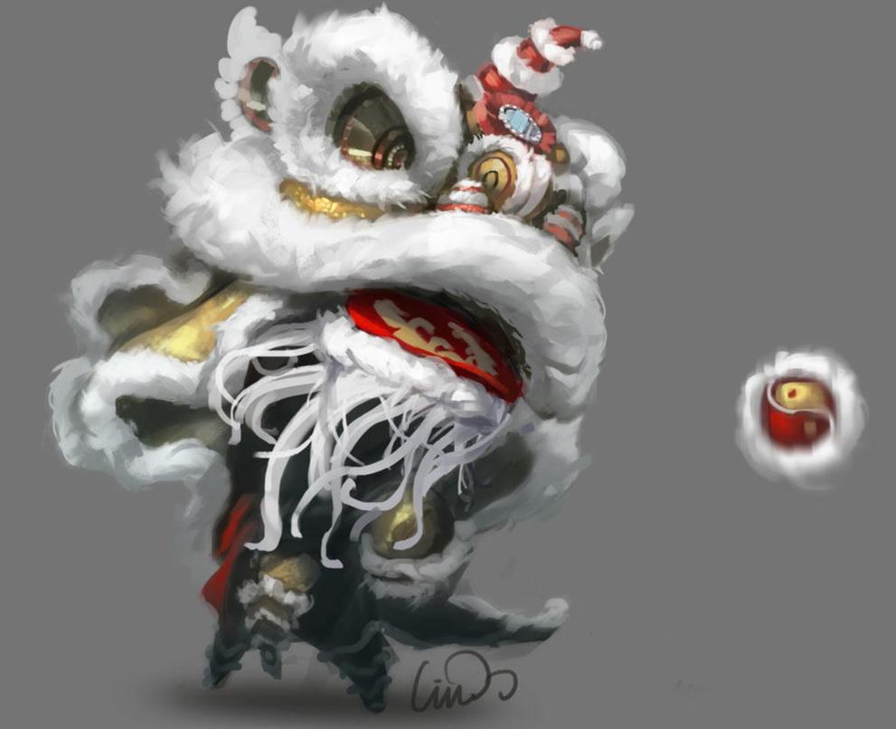 Chinese Lion by liu-yang