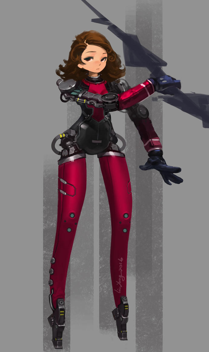 Robot female by liu-yang
