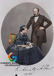 Queen Victoria and Prince Albert by gabriel444