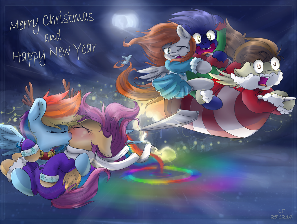 Merry Christmas and Happy New Year by RedheadFly
