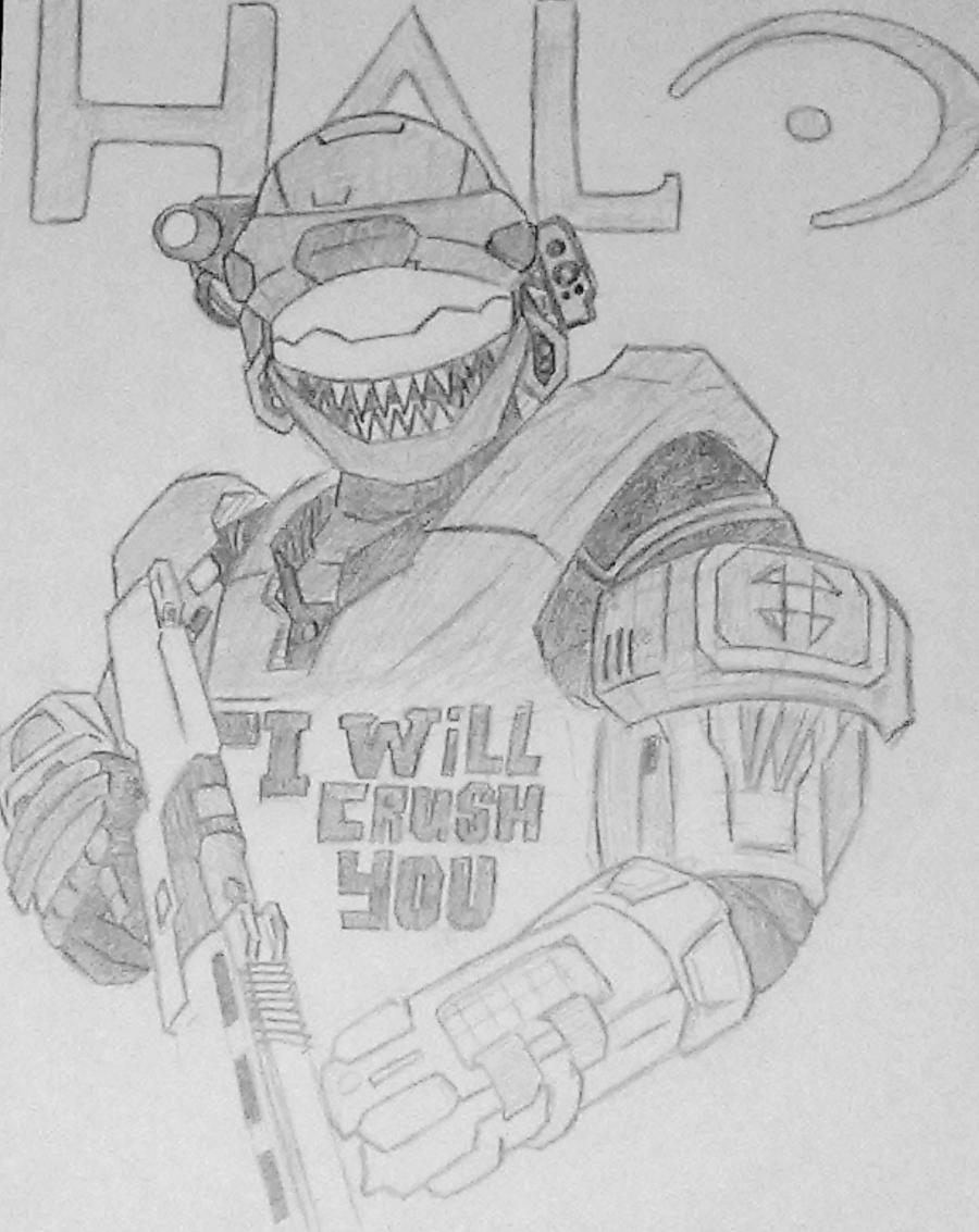 Halo Reach Character by Sketchaman on DeviantArt