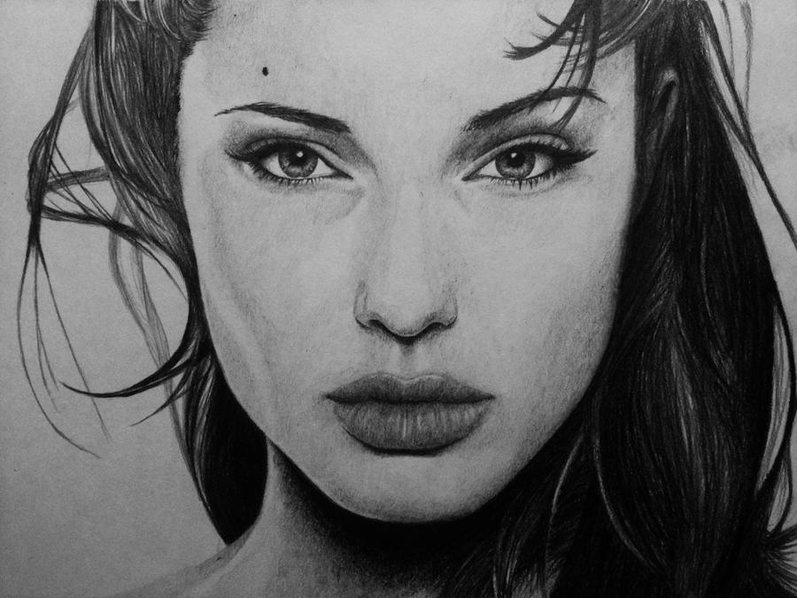 Angelina Jolie By Carlosvelasquezart On DeviantArt