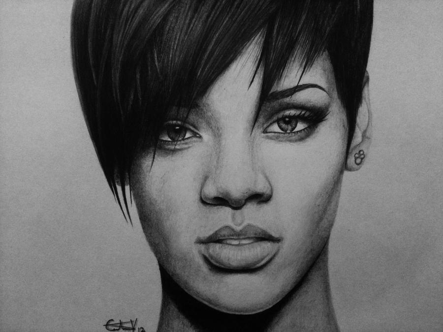 Rihanna Drawings  How to Draw Rihanna in Draw Something