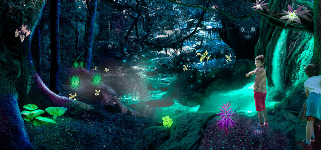 Patrick and Albert in the mysterious forest by mydas5