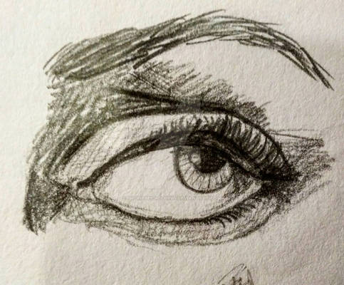 Woman's eye sketch