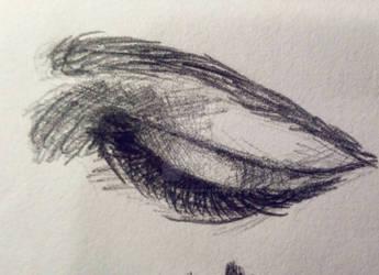 Woman's eye sketch 2