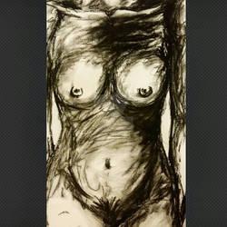 Female Body Charcoal Sketch