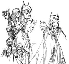 Batman sketches by Sit-by-Me-and-sea