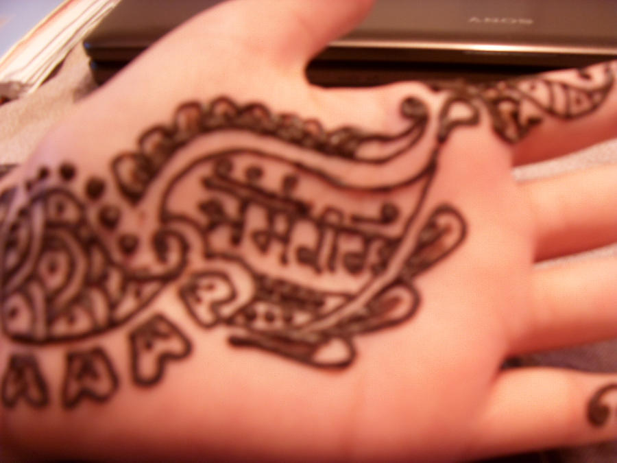 Mehndi Hand Name : Weekly photo challenge color mehandi u see you india