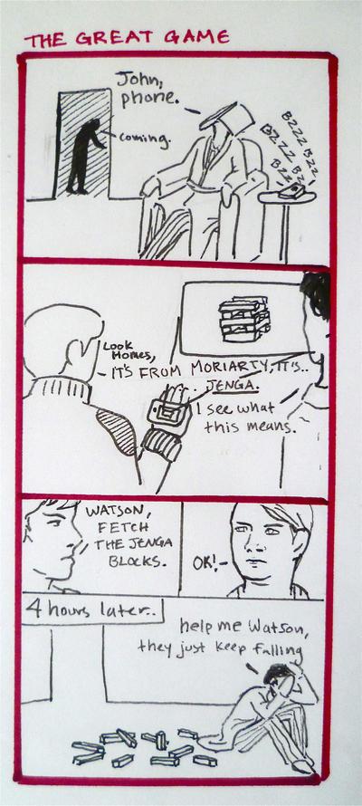 BBC Sherlock comic: Moriarty's challenge by Graphitekind
